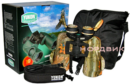 Комплектация бинокля Yukon 10x50 WA Woodworth